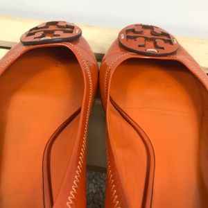 Tory Burch Shoes - Tory Burch Orange patent leather ballet flats